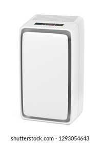 Air purifier on white background, 3D illustration