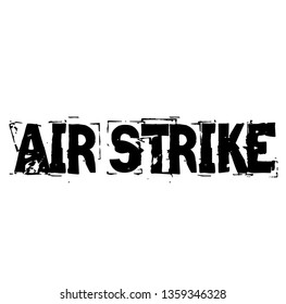 AIR STRIKE stamp on white
