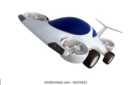 air vehicle isolated on white background
