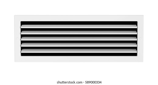Air vent isolated on white background, 3D illustration