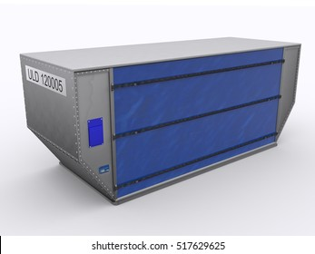 Aircraft container 3d rendering