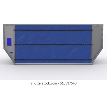 Aircraft container isolated 3d rendering