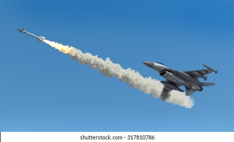 Aircraft fired a missile
