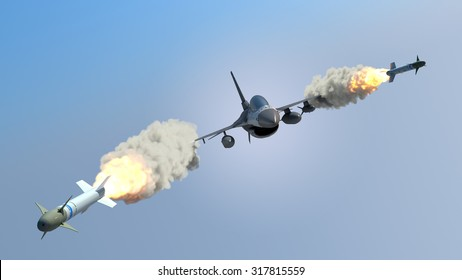 Aircraft fired a missiles