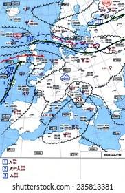 Aircraft map weather flight