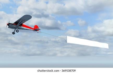 aircraft pulling advertisement banner