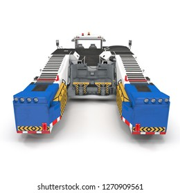 Aircraft Towing Tractor 3D Illustration Isolated on White Background