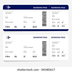 Airline boarding pass ticket for traveling by plane.