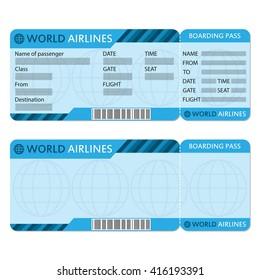 airplane ticket boarding pass icon blank stock illustration