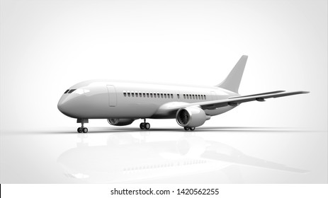 airplane angled center 3d rendering