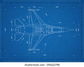 Airplane blueprint