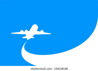 airplane flight tickets air fly cloud sky blue travel blank (Raster copy of vector)