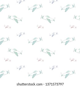 Airplane seamlless pattern clip art air illustration darwing airbus on white background