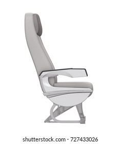 Airplane Seat Isolated. 3D rendering