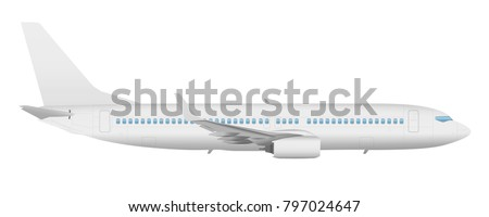 airplane template side view on isolated stock illustration 797024647