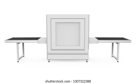 Airport Baggage X-Ray Security Machine Isolated. 3D rendering