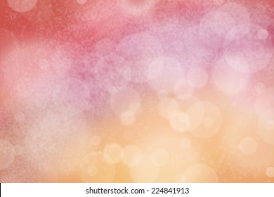 Airy background with bokeh and other lights effect on pink, purple, red and orange
