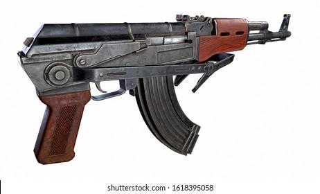 AK47 Folding Stock 3D Illustration