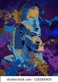 Akhenaten king of Egypt