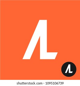 AL letters logo. A and L two letters together symbol. A with L ligature monogram sign.