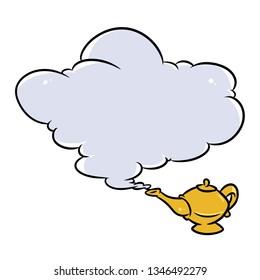 Aladdin Magic Lamp Jin Cloud cartoon