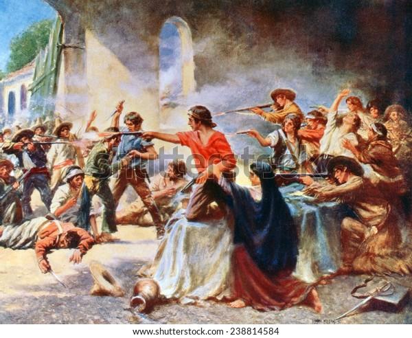 アラモ。アラモの戦いに対するロマンチックな見方。ペルシー・モラン ...