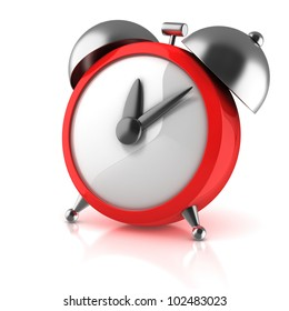 alarm clock 3d illustration isolated on white