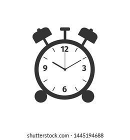 Alarm clock icon isolated. Wake up, get up concept. Time sign. Flat design