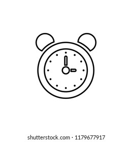 alarm clock icon. Simple outline illustration ofeducation for UI and UX, website or mobile application on white background