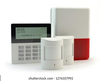 Alarm system, 3D illustration