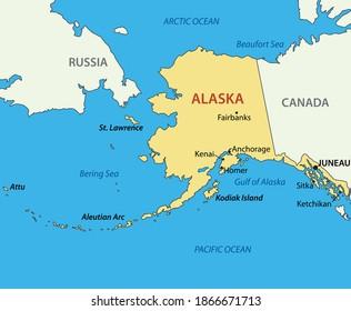 Alaska - map of USA state
