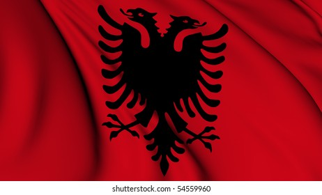 ALBANIA COUNTRY FLAG GLOSSY POSTER PICTURE PHOTO albanian europe tirana red 191