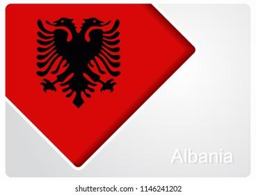 Albanian flag design background layout. Raster version.
