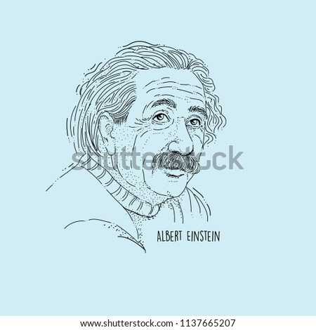 Albert Einstein Line Art