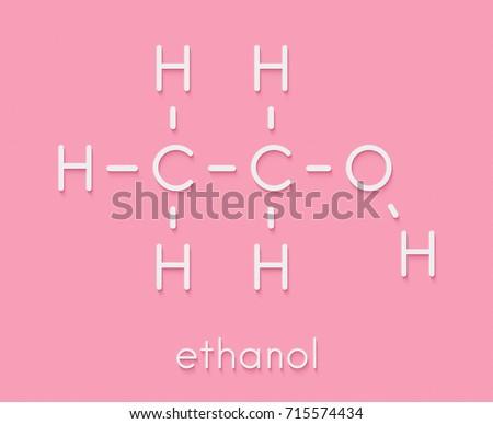 Alcohol Ethanol Ethyl Alcohol Molecule Chemical Stock Illustration
