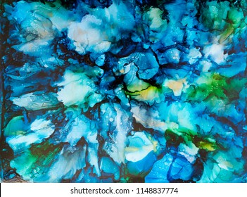 Alcohol Ink Art. Abstract painting. Alcohol Ink background.