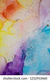 Alcohol Ink Art. Abstract painting background.