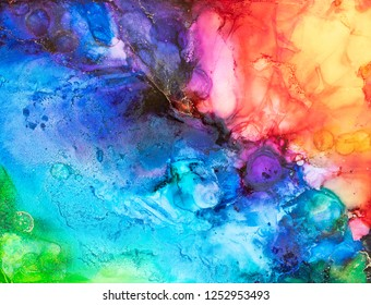 Alcohol Ink Art. Abstract paintingbackground.