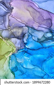 Alcohol ink art.Mixing liquid paints. Modern, abstract colorful background, wallpaper. Marble texture.Translucent colors