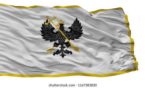 Alex K Chernihiv Prapor City Flag, Country Ukraine, Isolated On White Background, 3D Rendering