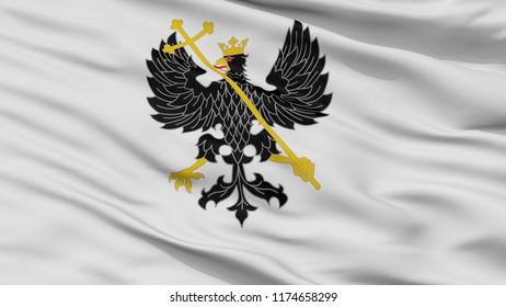 Alex K Chernihiv Prapor City Flag, Country Ukraine, Closeup View, 3D Rendering