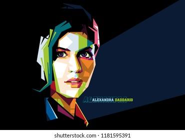 Alexandra Daddario in Popart Portrait