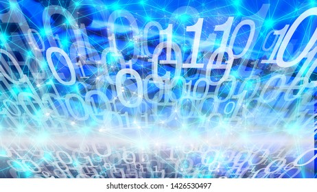 Algorithm abstract connections, cyber attack number