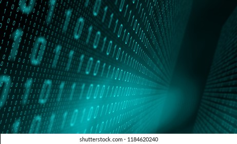 Algorithm data processing binary code, digital cyberspace
