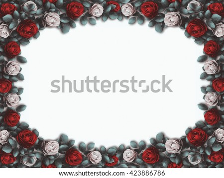 Alice Wonderland Red Roses White Roses Ilustración de stock423886786 ...