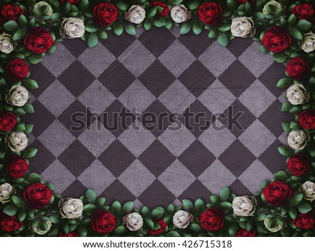 Royalty Free Stock Illustration Of Alice Wonderland Red Roses White