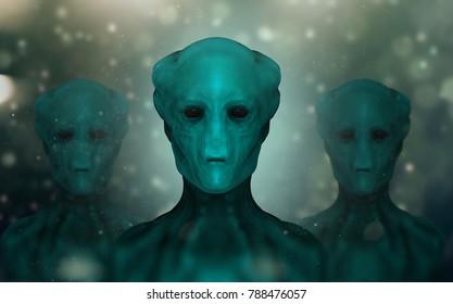 Alien Caropitox, 3D illustration