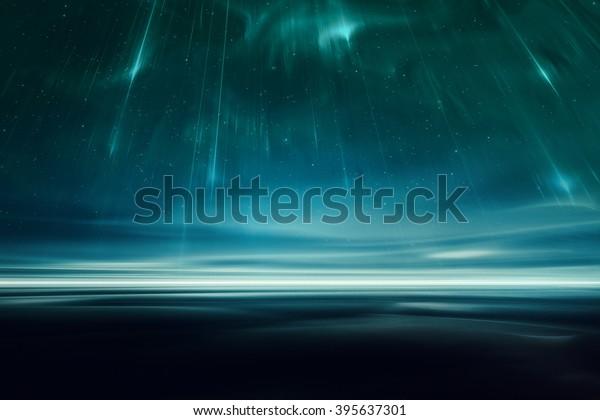 Alien fantasy landscape