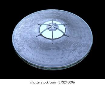 Alien flying disc ufo