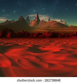 Alien Landscape - 3D rendered fantasy artwork